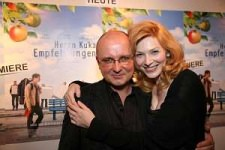 'Mr. Kuka's Advice' Premier - Vienna 2008: Nadia and Writer/Director Dariusza Gajewskiego. I was 6ft 2 in Vivienne Westwood heels and Darek is 5ft 7 - so we were doing our best to stop laughing while we tried to fit in to the same frame.