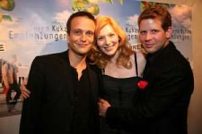 'Mr. Kuka's Advice' Premier - Vienna 2008: Nadia with Lukasz Garlicki and August Diehl. Both gorgeous and fiercely talented. Lucky me.